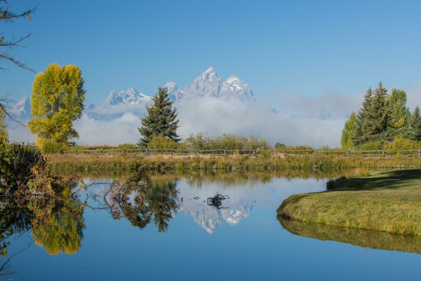 the Teton mountains and their reflectiion, Grand Teton National Park - yogatoday